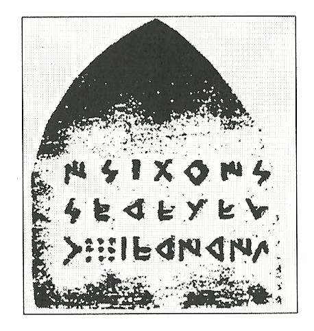 Fugacidad (II).Estela de mármol negra.